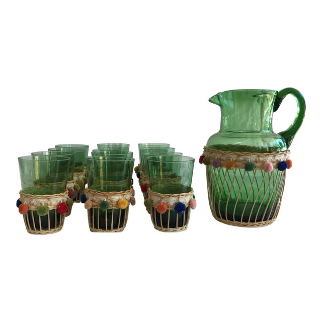 Fiesta Green Glass Beverage Set - Set of 13 - Image 1 of 6
