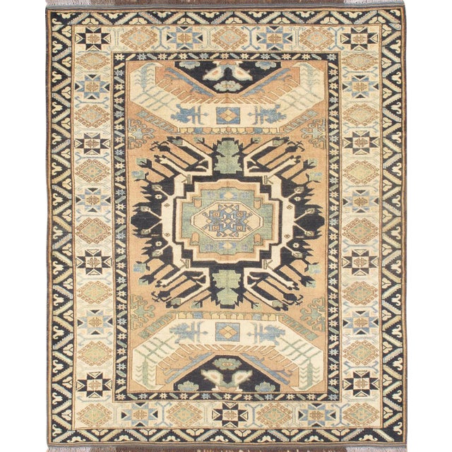 "Pasargad N Y Kazak Design Hand-Knotted Area Rug - 5'2"" X 6'5"" For Sale"