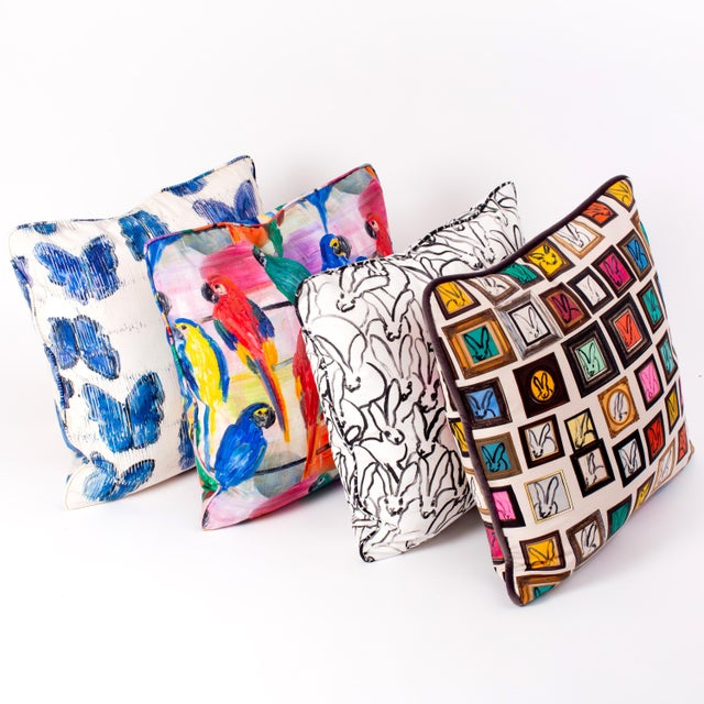 What not bring Hunt's iconic bunny wall into your home? Our new Hunt's Studio Cotton Pillow Cover is front and back...