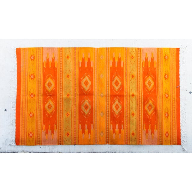 Orange & Yellow Southwestern Wool Rug - 3′6″ × 6′ - Image 2 of 4