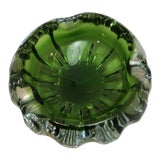 Image of Murano Sommerso Green Glass Bowl For Sale