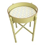 Image of Round Tray Table in Lime