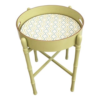 Round Tray Table in Lime For Sale