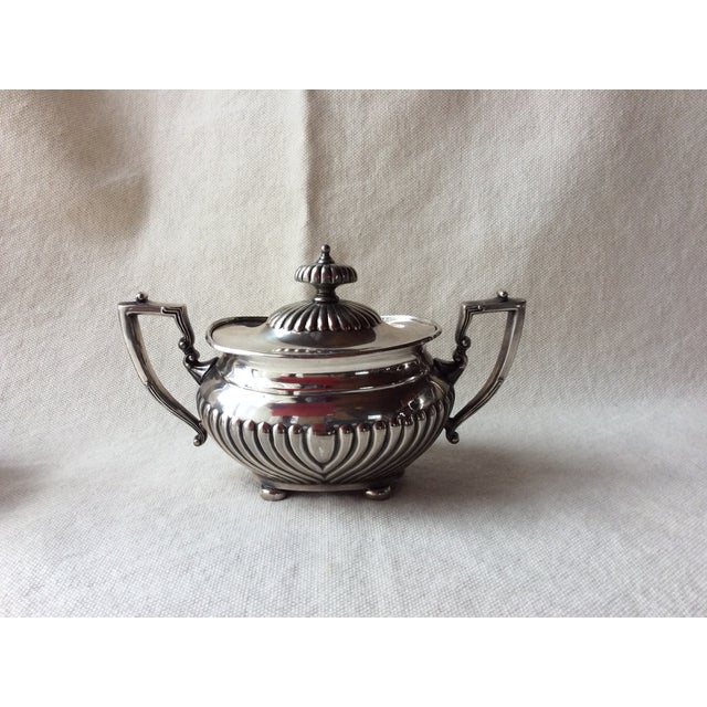 Sheffield Vintage English Silverplate Georgian Style Coffee Set - Set of 3 For Sale - Image 4 of 8