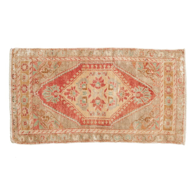 "Vintage Distressed Oushak Rug Mat Runner - 1'9"" X 3'3"" For Sale In New York - Image 6 of 6"