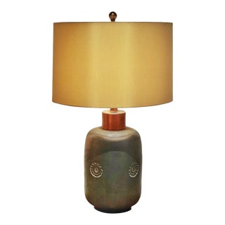 1960s Aldo Londi 'Etruscan' Table Lamp for Bitossi With Shade For Sale