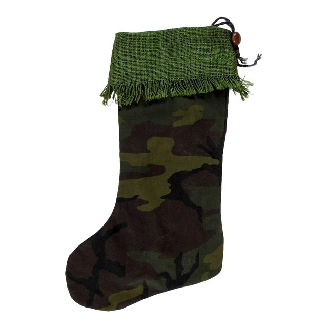Custom Camouflage Christmas Stocking For Sale