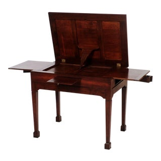 19th Century Napoleon III Oak Drafting Table, Fully Functional, Practical, Room Accessory, Accent Table For Sale