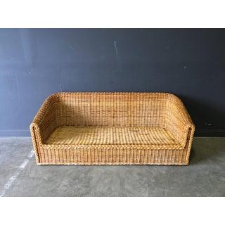 Vintage Mid-Century Modern Wicker Sofa Preview