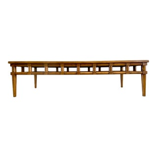 Vintage Thomasvile Mid Century Modern Long Chinese Inspired Coffee Table For Sale