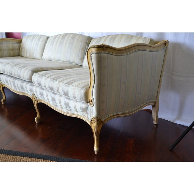 Mid-Century Modern Vintage French Provincial Sofa For Sale - Image 3 of 4
