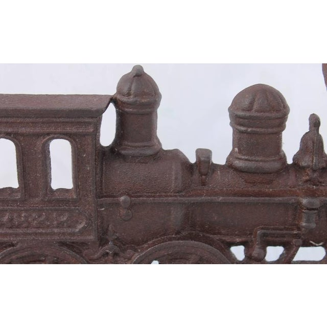 19th Century Original Old Surface Iron Train Door Stop - Image 7 of 8