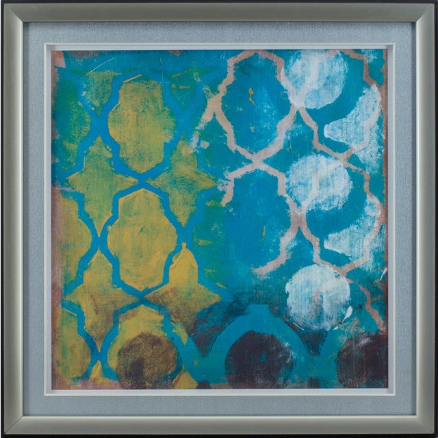 Contemporary Diamond Wall Art Pieces - A Pair For Sale - Image 3 of 4