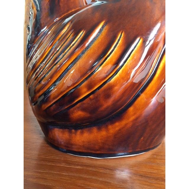 Ceramic Vintage Mid Century Ceramic Glaze Rooster Figurine For Sale - Image 7 of 9