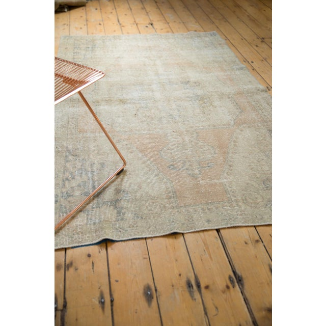 """Vintage Distressed Oushak Rug - 4'4"""" X 6'9"""" For Sale In New York - Image 6 of 10"""