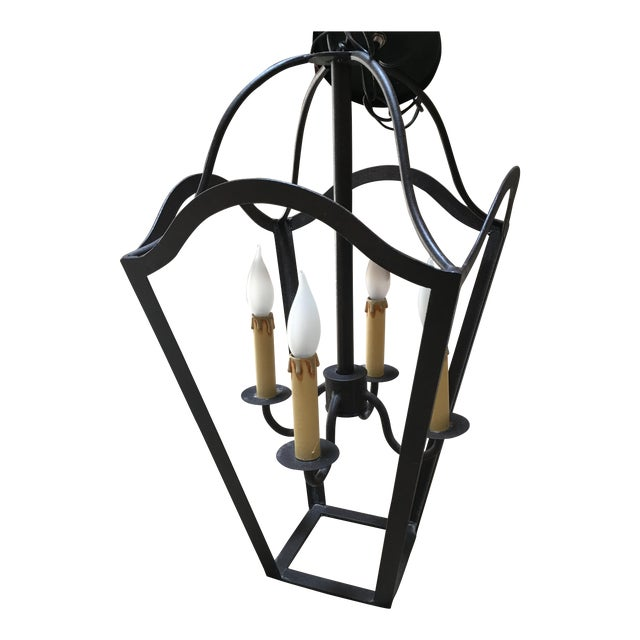 Custom Designed Wrought Iron Chandeliers - A Pair - Image 6 of 7