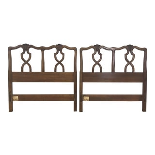 Pair of Carved Wood Twin Headboards