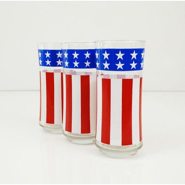 Vintage Libbey American Flag Glasses - Set of 3 - Image 2 of 6