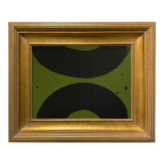 Ron Giusti Mini Wagasa Forest and Black Acrylic Painting, Framed For Sale