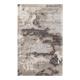 Jaipur Living Glacier Handmade Abstract Gray Silver Area Rug 8'X10' For Sale