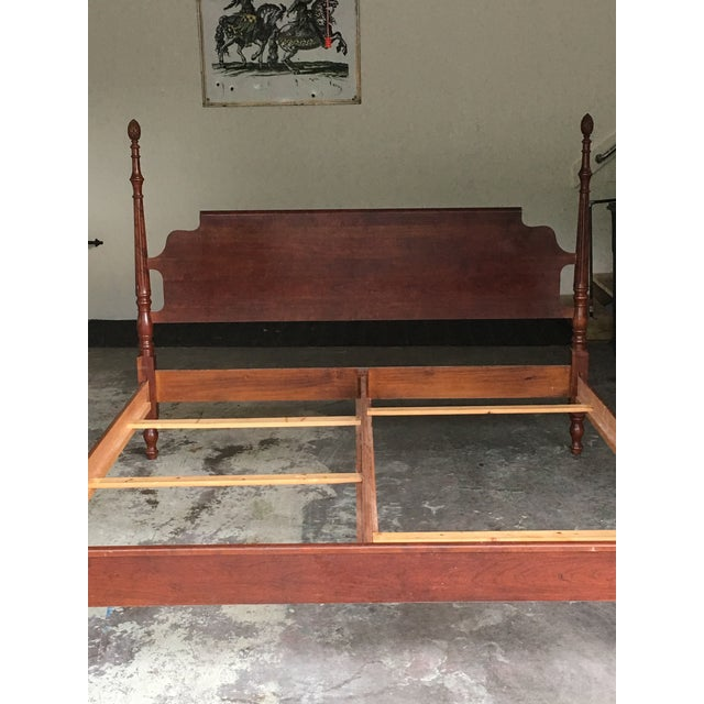 Wood Traditional Pine Cone Four Poster King Bed For Sale - Image 7 of 8