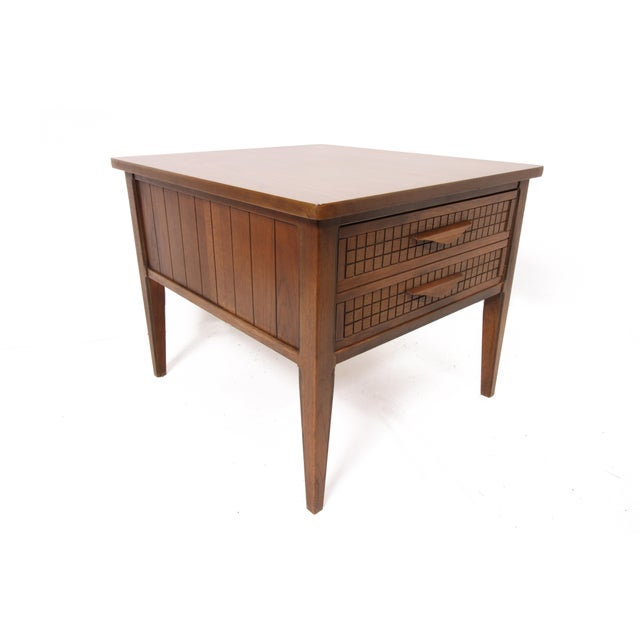 Mid Century Modern Single Drawer Side Table For Sale In Saint Louis - Image 6 of 10