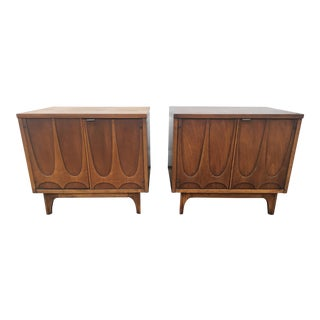 1960s Brutalist Broyhill Brasilia Nightstands- a Pair For Sale