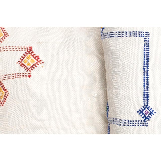 Pair Vintage Sabra with embroidery pillows.