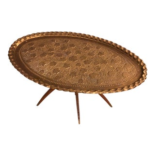 1920s Persian Brass Coffe Table For Sale