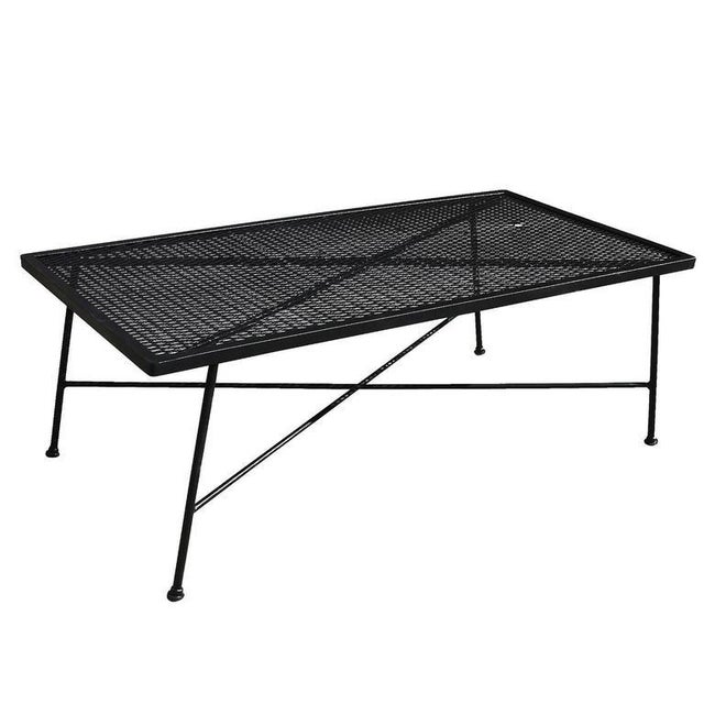 Russell Woodard Wrought Iron & Mesh Low Coffee Table - Image 2 of 5