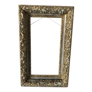 Antique Frame Newly Painted Gold and Distressed For Sale
