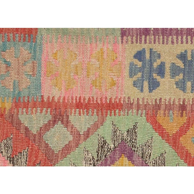 """Nalbandian - Contemporary Afghan Maimana Kilim - 2'7"""" X 3'9"""" For Sale - Image 4 of 5"""