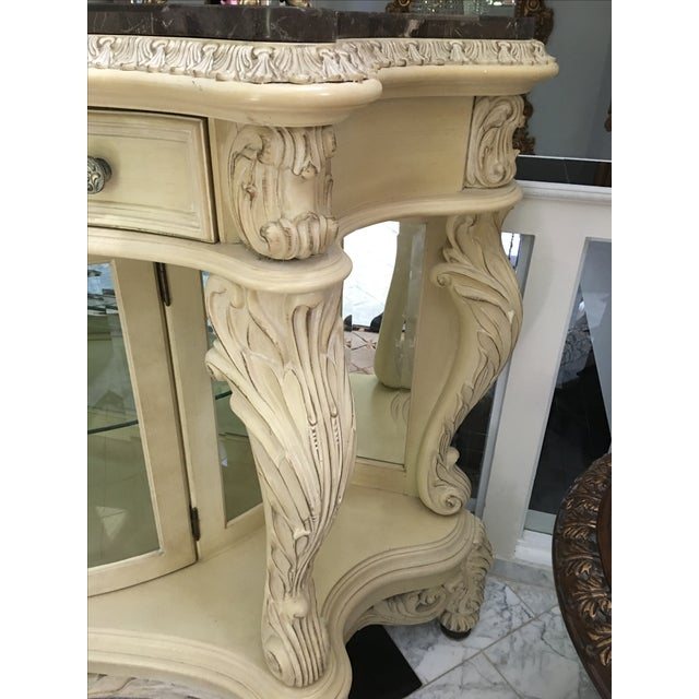 Baroque French Carved Server Display Cabinet by Pulaski For Sale - Image 3 of 11