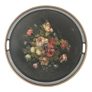 Mid-20th C Handpainted French Toleware Tray For Sale