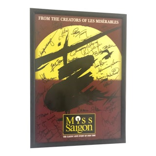 Vintage Signed Miss Saigon the Musical Poster