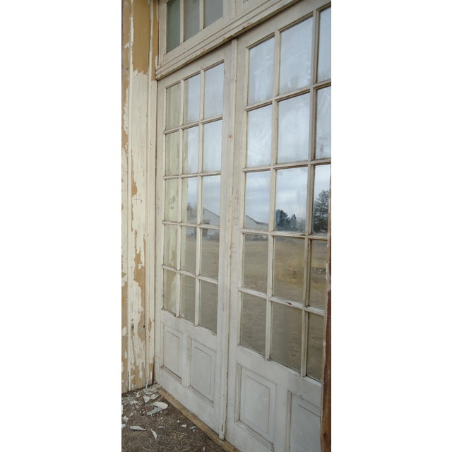 Mirrored Antique French Doors With Arched Transom For Sale - Image 5 of 8 - Mirrored Antique French Doors With Arched Transom Chairish