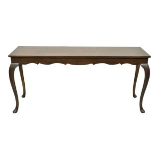 20th Century Queen Anne Walnut Sofa Console Table For Sale