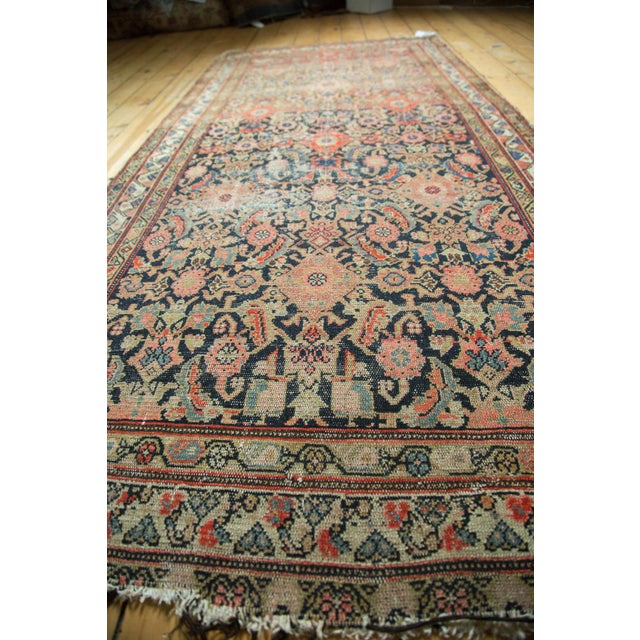 "Antique Hamadan Rug Runner - 4' X 8'10"" - Image 9 of 10"