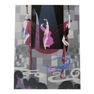 """1980s Erté, """"Chaste Susanna"""", Art Deco Screenprint For Sale"""