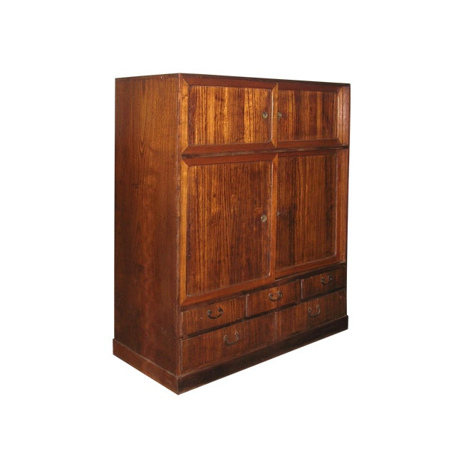 Reserved 19th Century Small Japanese Tansu Cabinet For Sale