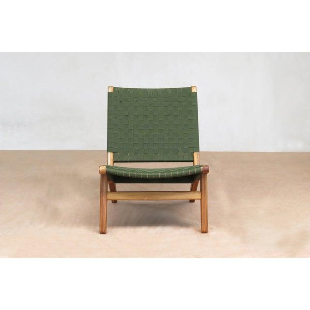 Mid-Century Modern Green Nylon Lounge Chair - Image 3 of 7