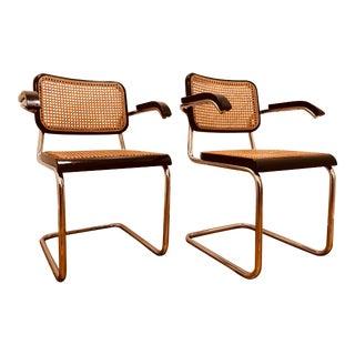 Mid Century Italian Marcel Breuer Chairs - A Pair