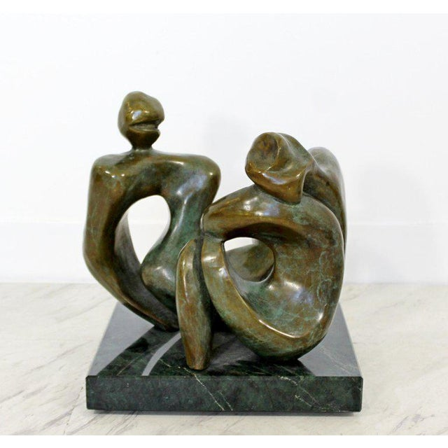 Contemporary Bronze Woman Table Sculpture by Jean Jacques Porret Prologue 2/8 For Sale - Image 10 of 13