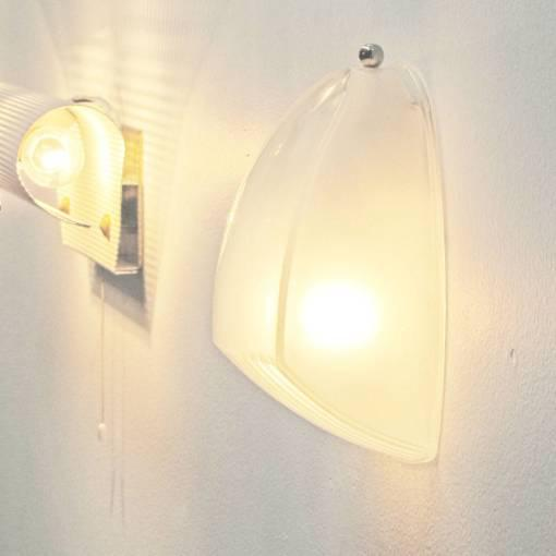 Pair of Italian Holophane Glass Wall Lights by Vico Magistretti For Sale - Image 10 of 10