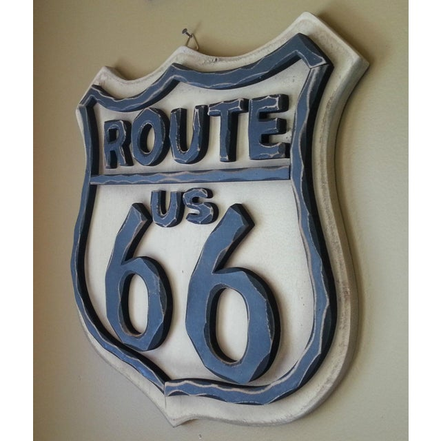 Route 66 Wood Wall Sign - Image 3 of 7