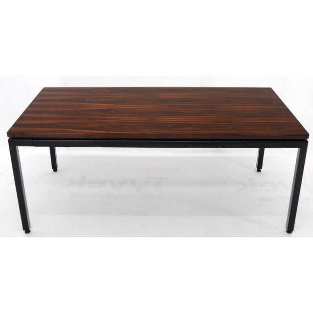 Wood Dunbar Vivid Rosewood Grain Low Profile Mid Century Modern Desk Writing Table. For Sale - Image 7 of 13