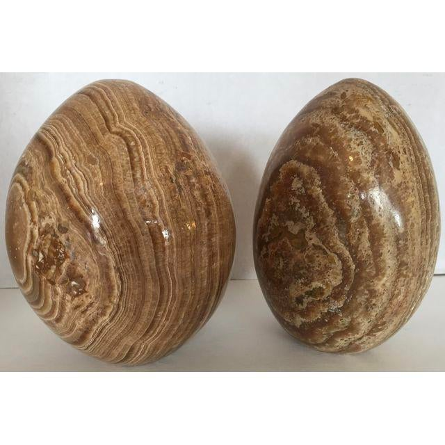 Decorative Marble Eggs - A Pair For Sale - Image 4 of 5