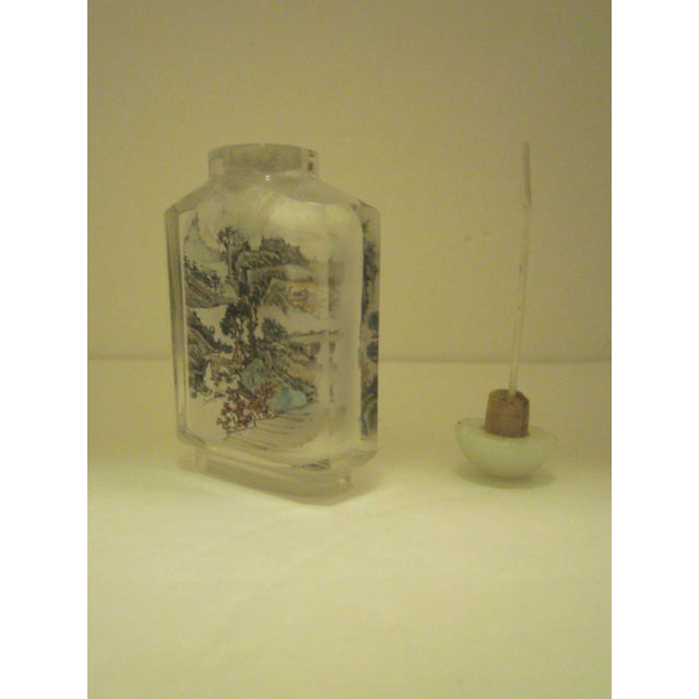 Peking Back Painted Glass Bottles - Set of 4 - Image 7 of 11