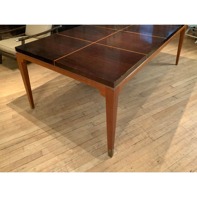 1950s Mahogany Extension Dining Table by Tommi Parzinger for Parzinger Originals For Sale - Image 10 of 13