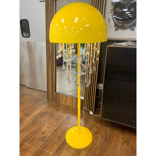 Yellow Lunar Floor Lamp For Sale - Image 4 of 4